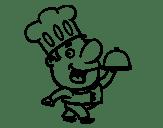 Dibujos de Cocineros para Colorear  Dibujosnet