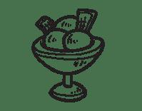 Dibujo de Copa con tres bolas de helado para Colorear ...
