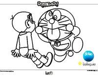 Dibujo de Doraemon y Nobita para Colorear - Dibujos.net