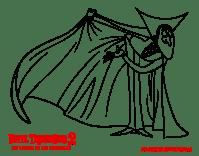 Dibujo de Drac Saludando para Colorear