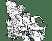 Dibujo de Gretel y la bruja para Colorear - Dibujos.net