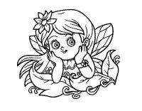 Dibujo de Hada bonita para Colorear - Dibujos.net