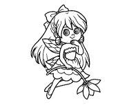 Dibujo de Hada de las flores para Colorear