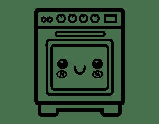 Dibujo de Horno para Colorear Dibujos net