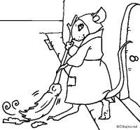 Dibujo de La ratita presumida 1 para Colorear - Dibujos.net