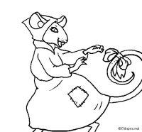 Dibujo de La ratita presumida 7 para Colorear - Dibujos.net