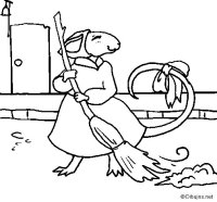 Dibujo de La ratita presumida 8 para Colorear - Dibujos.net