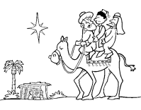 Dibujo de Los tres Reyes Magos para Colorear - Dibujos.net