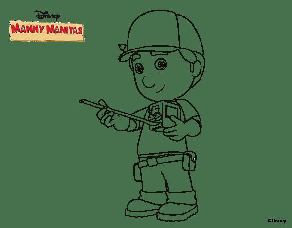 Dibujo De Manny Manitas Para Colorear