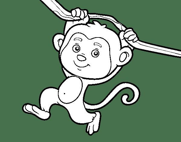 Dibujos Para Colorear De Monos De Nieve Dibujo De Mu 241