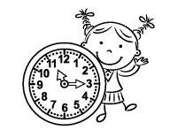 Dibujo de Nia con reloj para Colorear - Dibujos.net