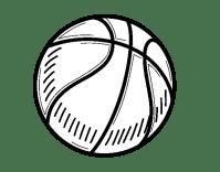 Dibujo de Pelota de baloncesto para Colorear