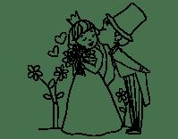 Dibujo de Prncipes recin casados para Colorear - Dibujos.net