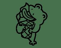 Dibujo de Rana con un helado para Colorear - Dibujos.net