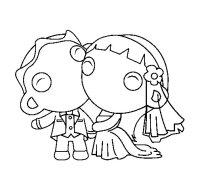 Dibujo de Recin casados III para Colorear - Dibujos.net