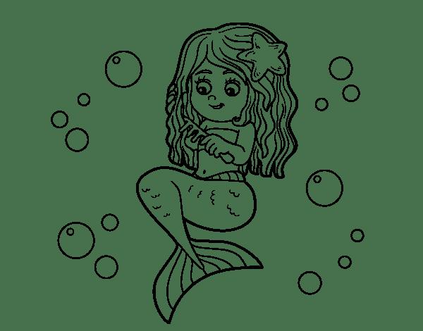 Dibujo De Sirena Flotando Para Colorear - Auto Electrical ... on