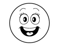 Dibujo de Smiley feliz para Colorear - Dibujos.net