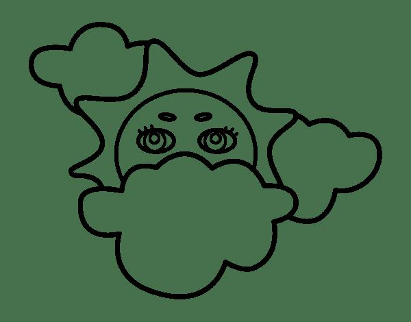 Dibujos Para Colorear Arcoiris Nubes Dibujos Para Colorear Arcoiris