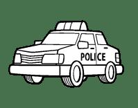 Colorear Coches De Policia Dibujos De Coches De Policia