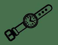 Dibujo de Un reloj de mueca para Colorear - Dibujos.net