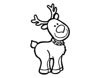 Dibujo de Un reno Navideo para Colorear
