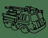 Dibujo de Vehculo de bomberos para Colorear - Dibujos.net