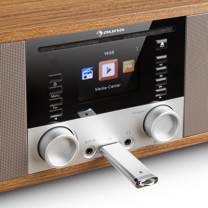 IR-190 InternetRadio CD-Player WiFi UPnP USB Remote ControlWalnut Walnut | purchase online