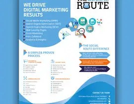 "Design a 8x10"" one page sales brochure for a digital marketing ..."