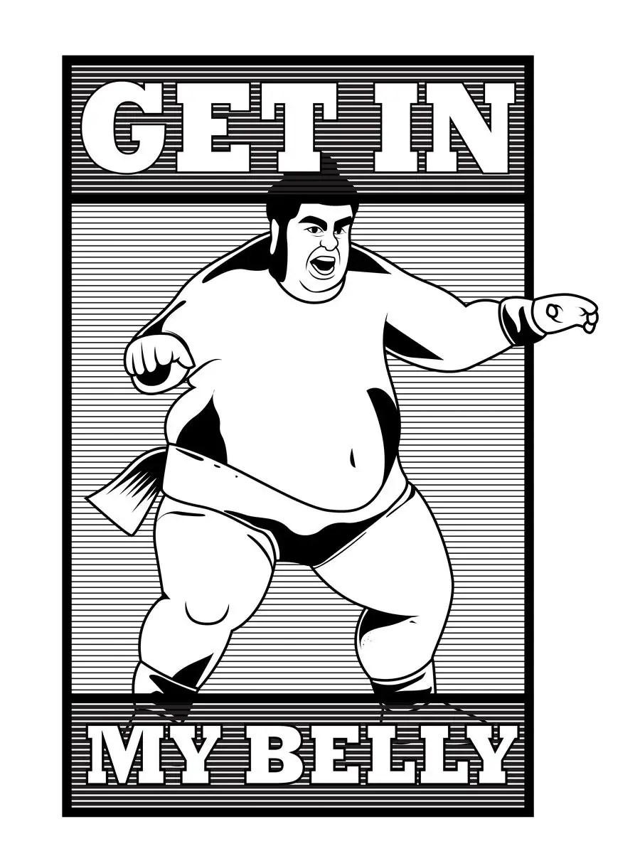 Fat Bastard Get In My Belly : bastard, belly, Entry, Mediyat56, Graphic, Design, T-Shirt, Bastard, Character, Freelancer