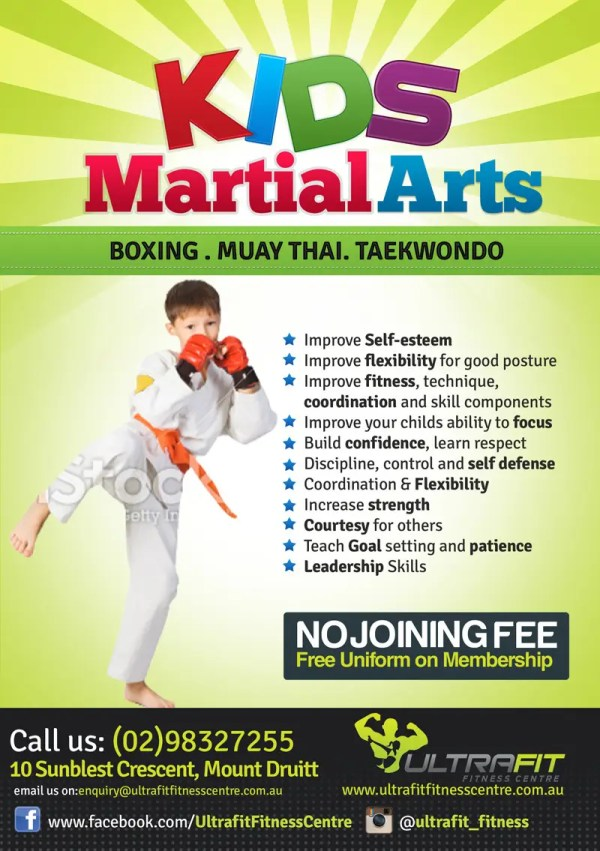 Design Flyer Kids Martial Arts Classes Freelancer