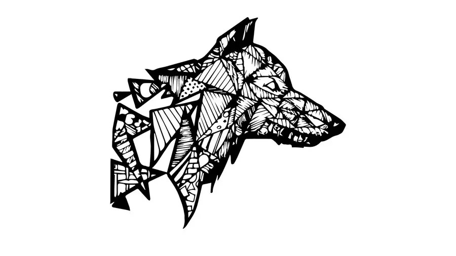 Entry #6 by GeriPapp for Create a geometric wolf logo