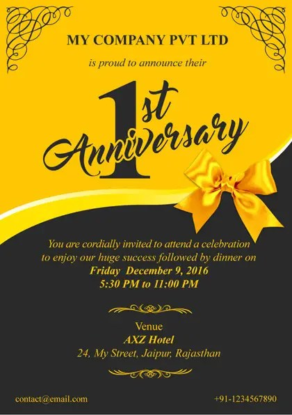 Contest Entry 21 For Design A A5 Single Side Invitation Card Corporate Event
