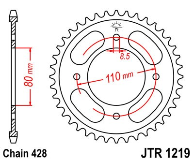 Honda CBF125 2009 Chain & Sprocket Kit
