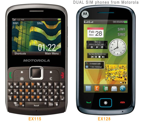 new Motorola Dual Sim phones