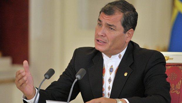 Президент Республики Эквадор Рафаэль Корреа. Архивное