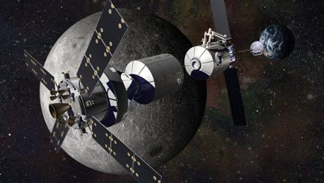 Лунная база в представлении инженеров и художников компании Локхид-Мартин