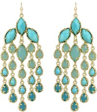 Light Blue Earrings: Kendra Scott Freesia Chandelier ...