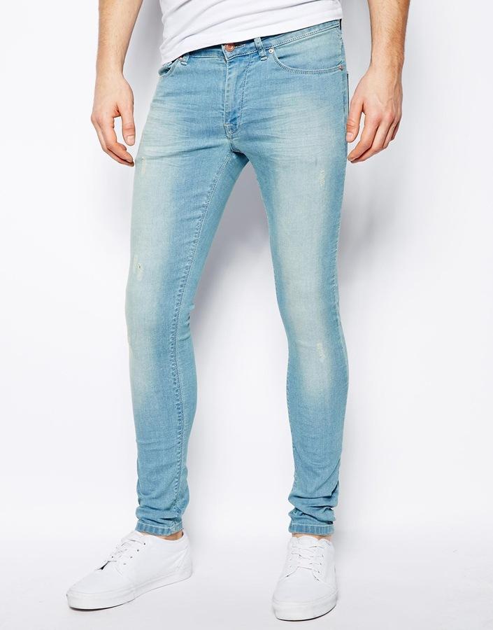 Light Blue Skinny Jeans Asos Extreme Super Skinny Jeans
