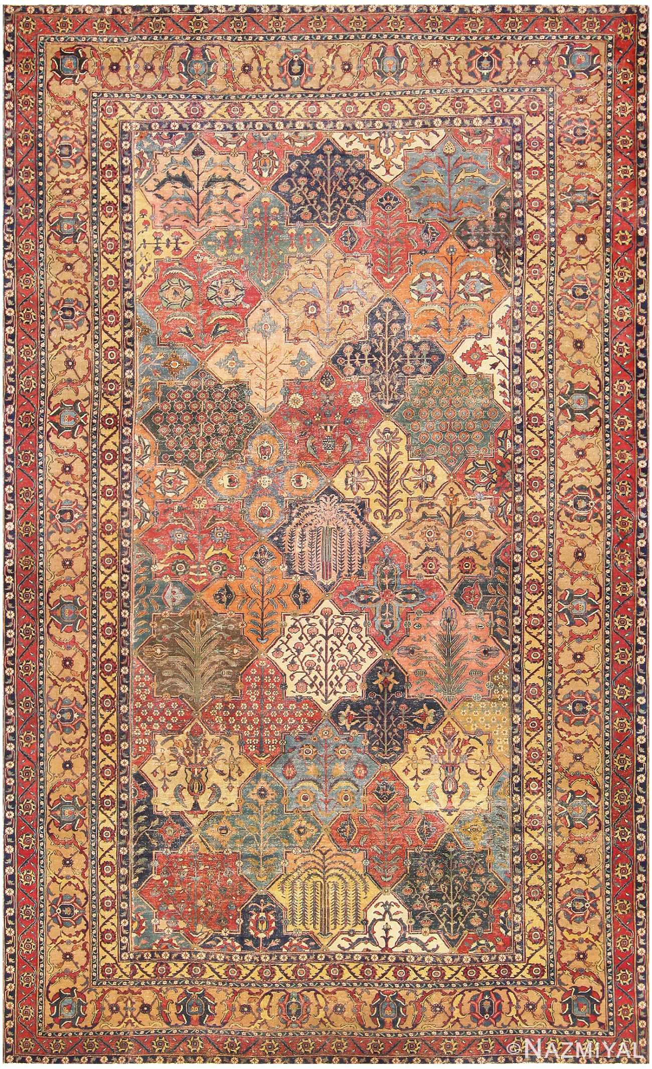 Antique Persian Khorassan Carpet 47074 by Nazmiyal Collection