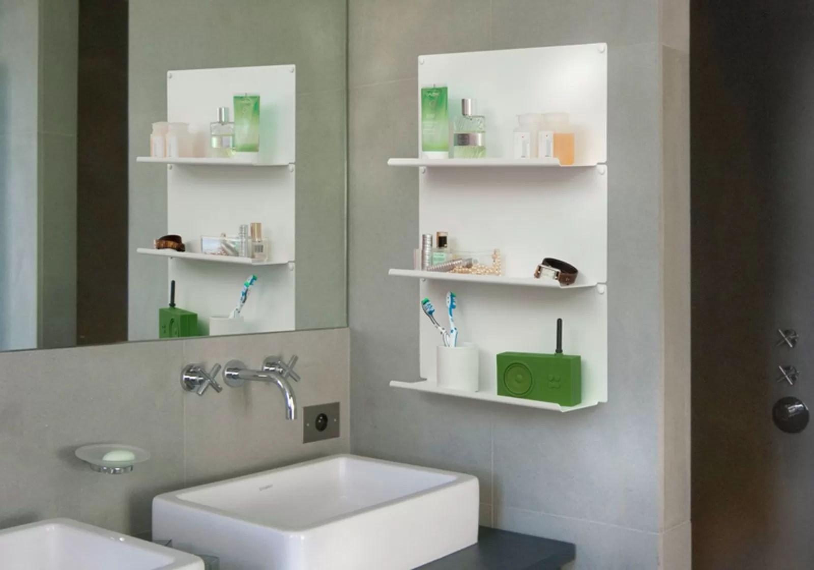 """Set of 4 bathroom shelves """"LE"""""""