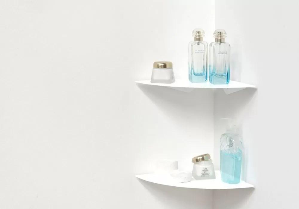 etagere angle salle de bain 24 cm lot de 2