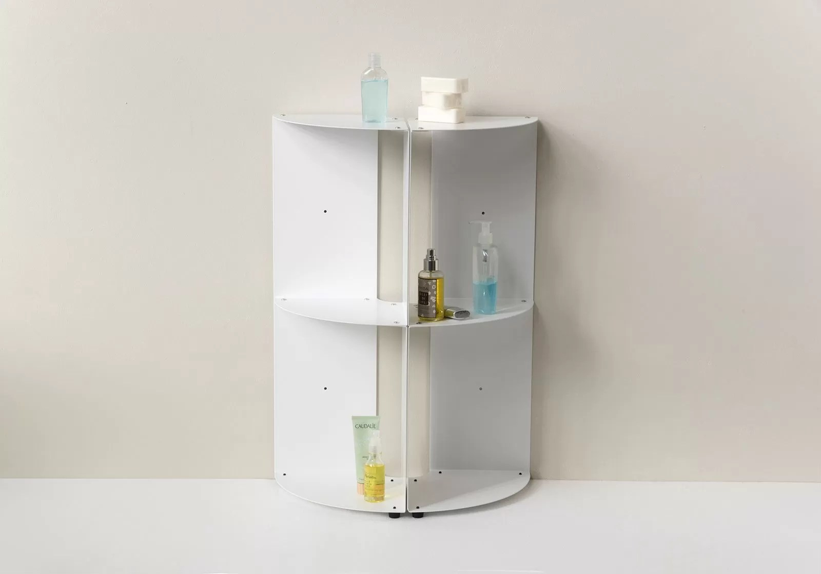 Bathroom corner shelf DANgolo  Steel  25x25x70cm