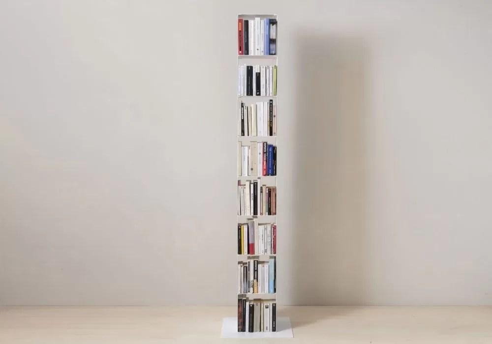 vente meuble colonne blanc en acier l24 cm 8 niveaux