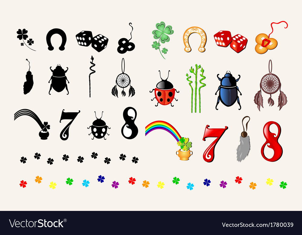 Symbols of luck Royalty Free Vector Image  VectorStock