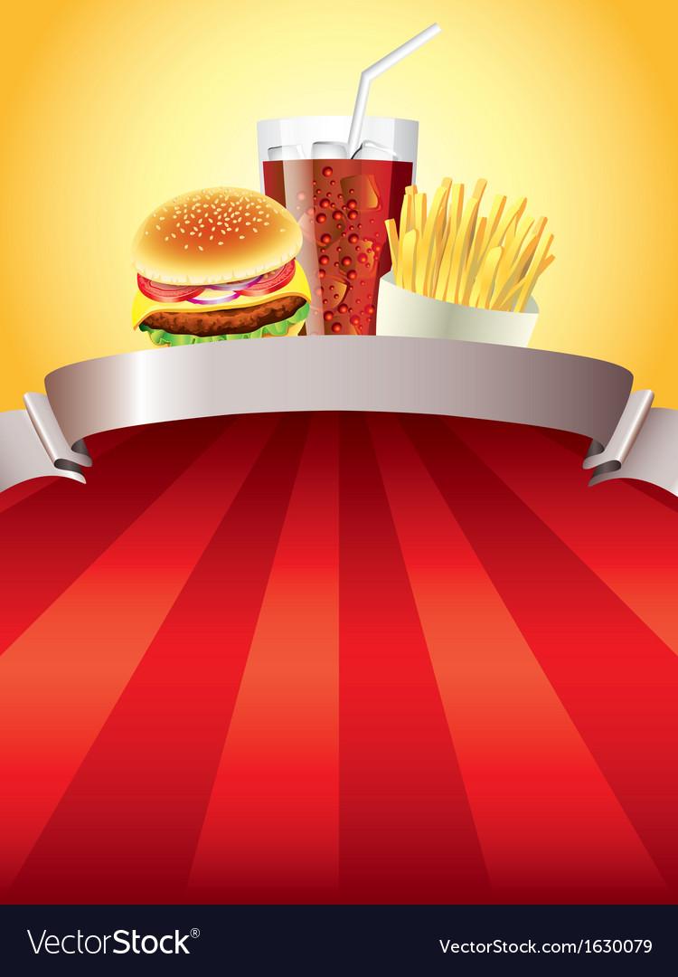 Red Food Background : background, Fastfood, Background, Royalty, Vector, Image, VectorStock