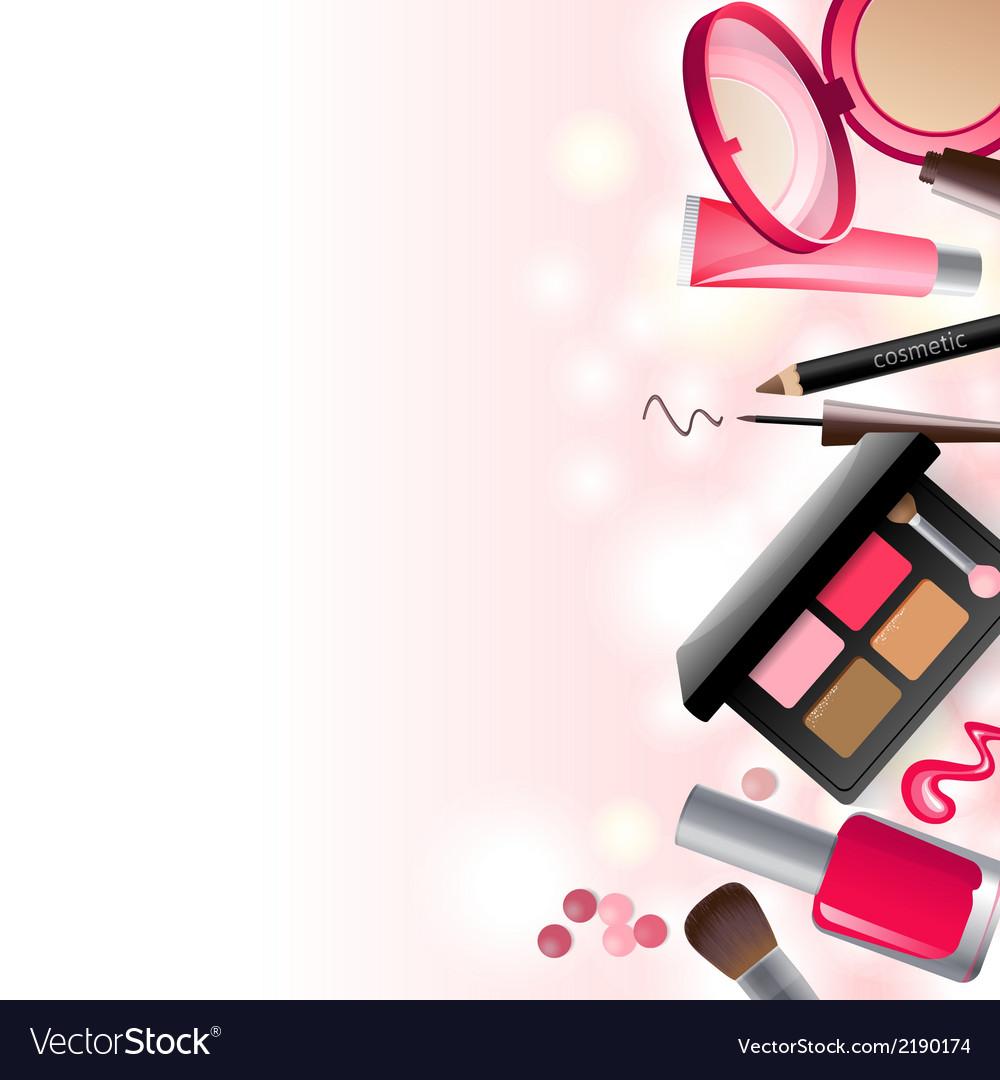 glamorous make up background