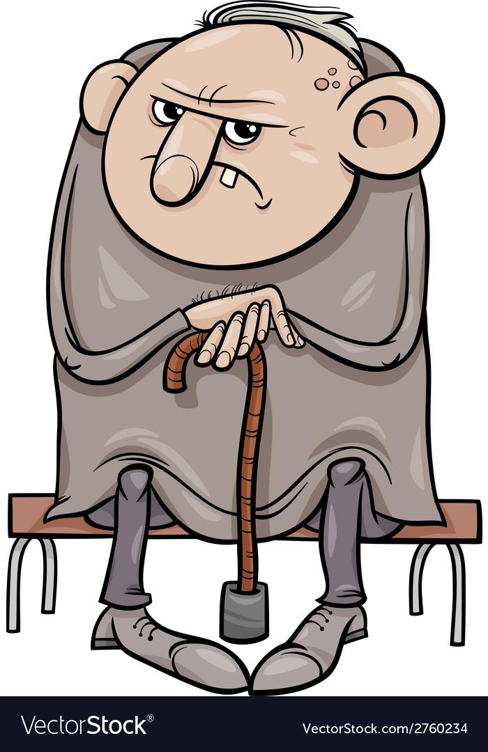 Old Man Cartoon : cartoon, Grumpy, Cartoon, Royalty, Vector, Image