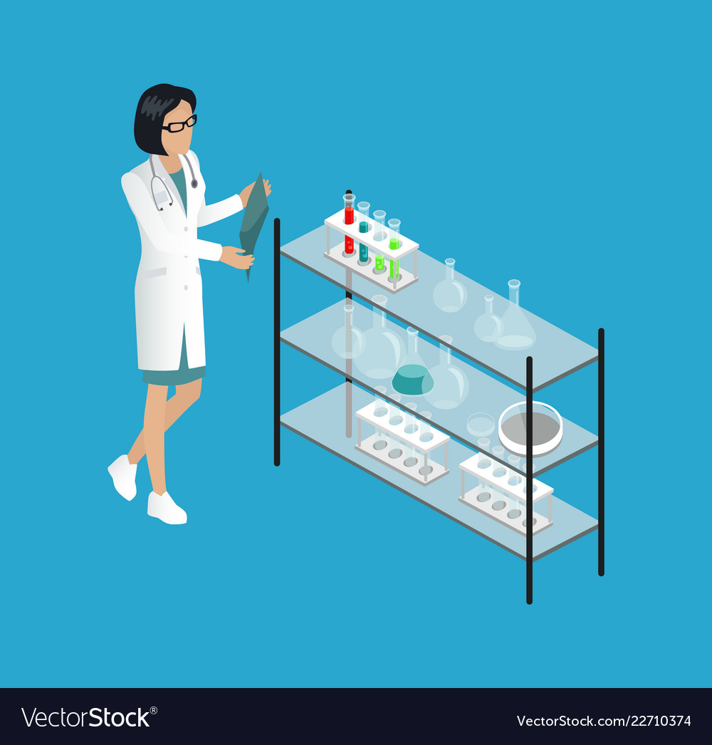 hight resolution of medical worker doctor in lab royalty free vector image doctor lab diagram meaning doctor lab diagram