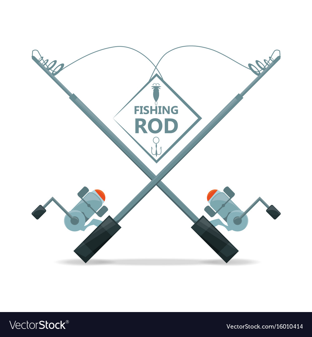 hight resolution of fishing rod with reel equipment concept vector image