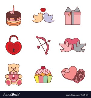 valentine drawing simple vector graphic
